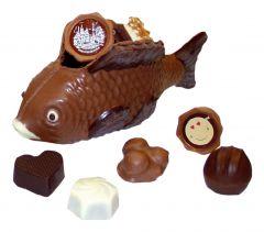 Schokoladen Fisch gefüllt mit Pralinés klein