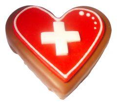 Schokoladen Herz Schweizer Kreuz