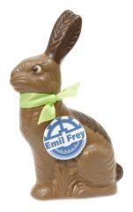 Schokoladen Sitzhase mit Logo