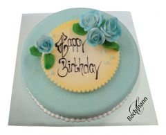 Torte Azur blau