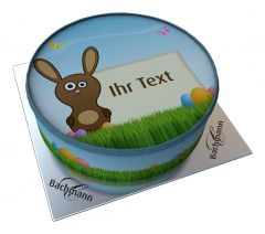 Shipping Cake Your Text Bunny