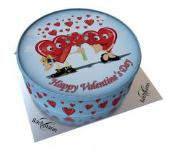 Shipping Cake Valentine's Day Hearts